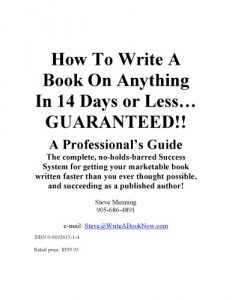 Steve Manning - How To Write A Book On Anything In 14 Days or Less