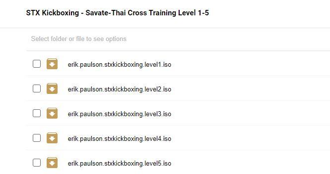 STX Kickboxing Savate-Thai Cross Training Level 1-5