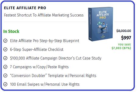 Elite Affiliate Pro - $50k Per Week On Clickbank