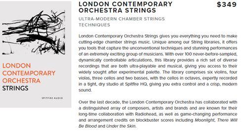 Spitfire Audio London Contemporary Orchestra Strings v1